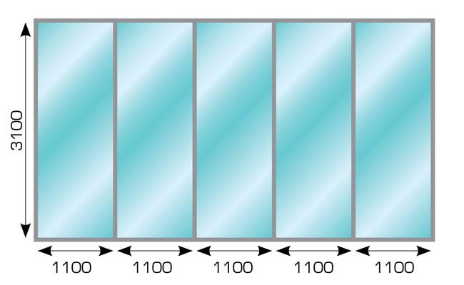 Изображение 1: Каркасные стеклянные перегородки – ГлавСтеклоСтрой
